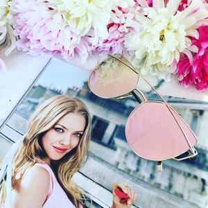 "🆑 ""Natalie"" Sunglasses || Pink Mirror Cat Eye"